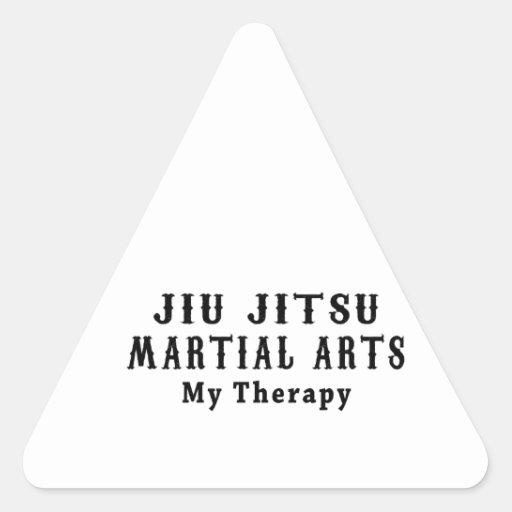 Artes marciais de Jiu Jitsu minha terapia Adesivos Em Forma De Triângulo