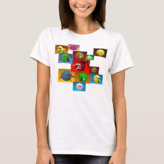 artes marciais do capoeira dos espaguetes do T da Camiseta