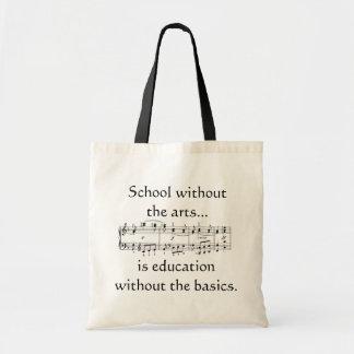 Artes na sacola da educação bolsa tote