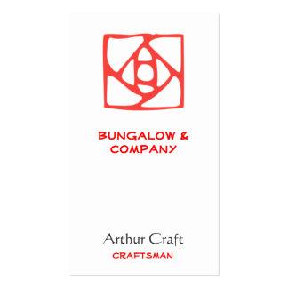 Artes & ornamento dos artesanatos (flor) cartão de visita