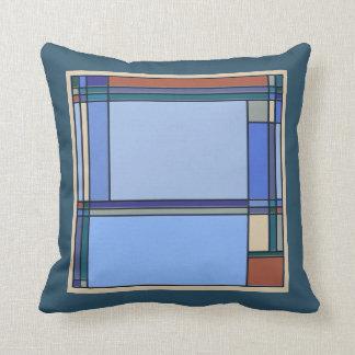 Artes & teste padrão geométrico dos artesanatos no almofada