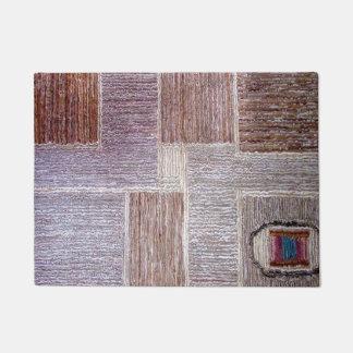 Artesanato de couro original do tapete