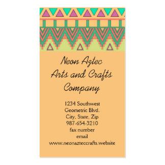 Artesanatos geométricos do sudoeste asteca cartão de visita
