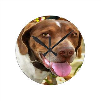 Arthur o cão de caça relógio redondo