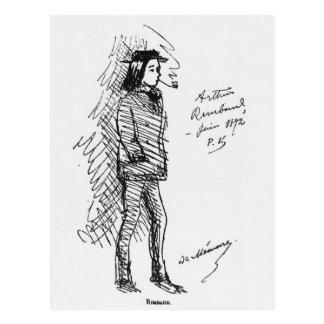 Arthur Rimbaud junho de 1872 Cartão Postal