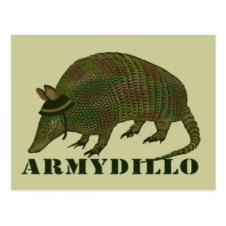 Artigo do tatu do exército cartão postal