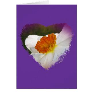 Artigos coordenados florais do narciso branco cartão comemorativo
