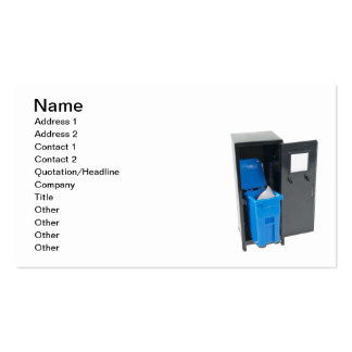 Artigos da escola do reciclagem cartão de visita