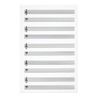 Artigos de papelaria alinhados música de