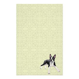 Artigos de papelaria amigáveis de Boston Terrier