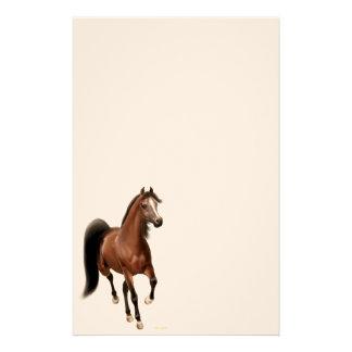 Artigos de papelaria árabes do cavalo da baía