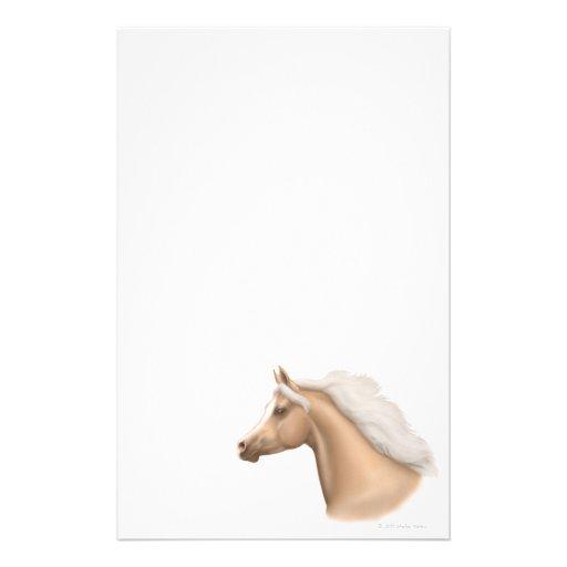Artigos de papelaria árabes do cavalo do Palomino