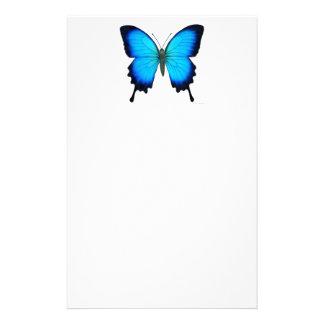 Artigos de papelaria azuis da borboleta de Papilio