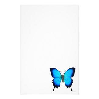 Artigos de papelaria azuis da borboleta de Ulysses