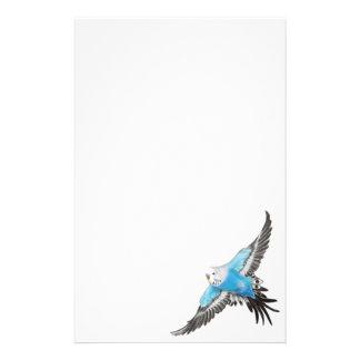 Artigos de papelaria azuis do Parakeet do Budgerig