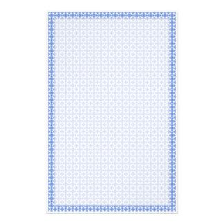 Artigos de papelaria azuis do Weave do Victorian