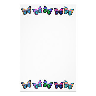 Artigos de papelaria coloridos das borboletas
