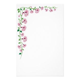 Artigos de papelaria cor-de-rosa da corriola