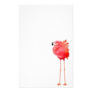 Artigos de papelaria cor-de-rosa tropicais do flam