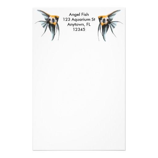 Artigos de papelaria customizáveis do Angelfish