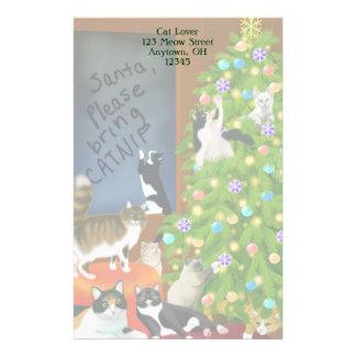 Artigos de papelaria customizáveis do Natal do gat