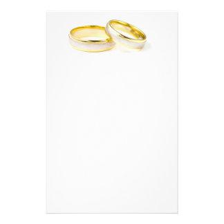 Artigos de papelaria da aliança de casamento