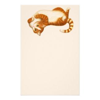 Artigos de papelaria da ioga do gato