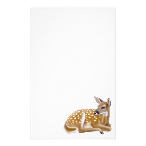 Artigos de papelaria da jovem corça dos cervos de