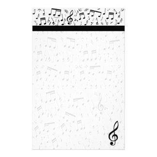 Artigos de papelaria da nota da música