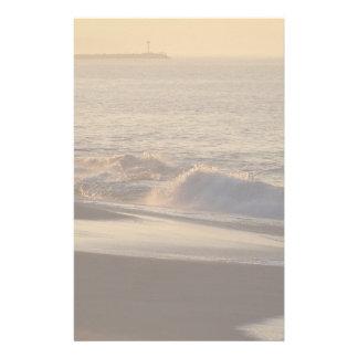 Artigos de papelaria da praia do alvorecer