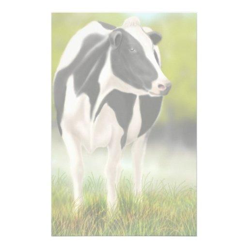 Artigos de papelaria da vaca de Holstein