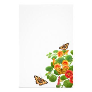 Artigos de papelaria das borboletas & das flores d