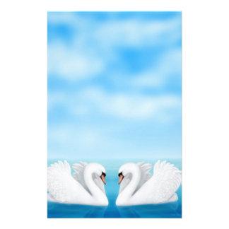 Artigos de papelaria das cisnes do amor