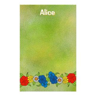 Artigos de papelaria das flores