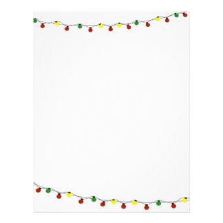 Artigos de papelaria das luzes de Natal Papel Timbrado