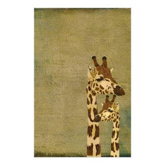 Artigos de papelaria de bronze dourados dos girafa