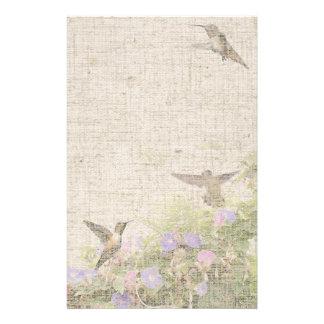 Artigos de papelaria de linho do colibri