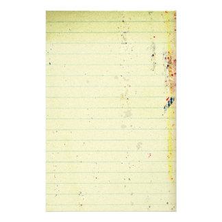 Artigos de papelaria de papel do caderno