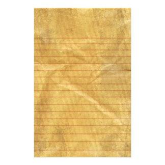 Artigos de papelaria de papel velhos de nota