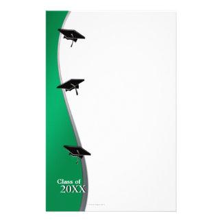 Artigos de papelaria de papel verdes de nota da gr