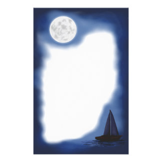 Artigos de papelaria de Sailboat~ do ~Moonlight da