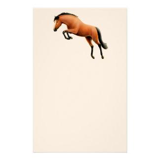 Artigos de papelaria de salto do cavalo de baía