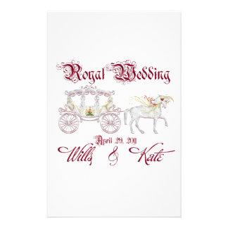 Artigos de papelaria de vidro Wedding reais do tre
