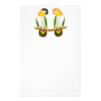 Artigos de papelaria do amor do papagaio do Caique