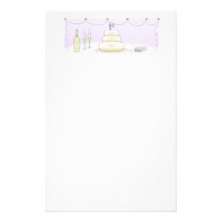 Artigos de papelaria do bolo de casamento