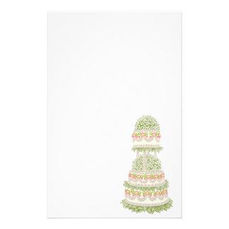 Artigos de papelaria do bolo de casamento da padar