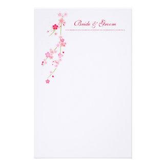 Artigos de papelaria do casamento da flor de cerej
