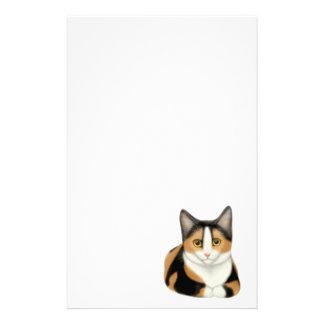 Artigos de papelaria do gato de chita