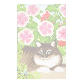 Artigos de papelaria do gato de selva do pátio