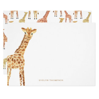 Artigos de papelaria do girafa convite 11.30 x 15.87cm